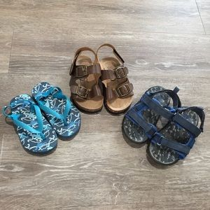 3 Pairs of Toddler Boy Sandals Shoes